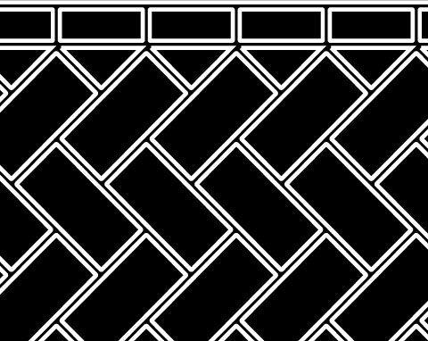 45 Herringbone - Concrete Resurfacing Patterns, Decorative Concrete Driveways