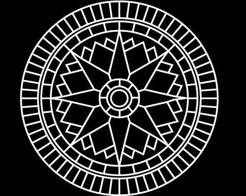 Star Compass - Decorative Concrete Resurfacing Patterns. Decorative Concrete Driveways Brisbane