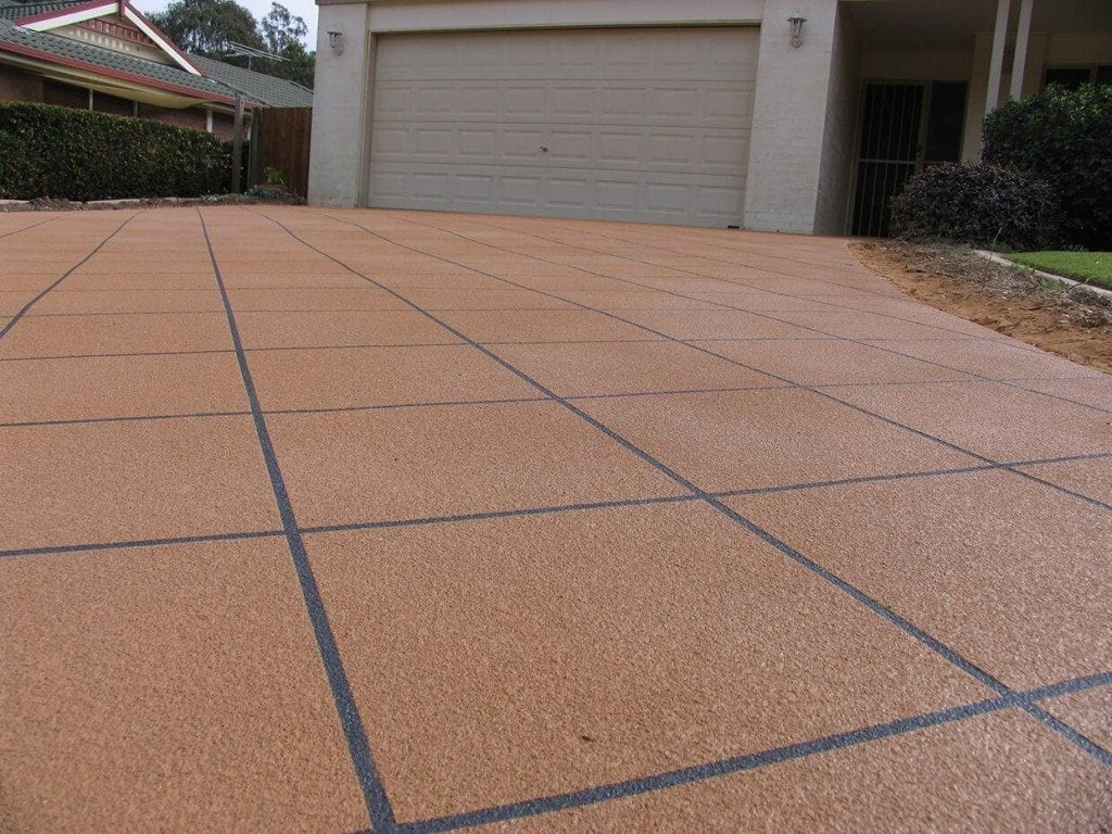 Concrete Resurfacing Close Up - Concrete Driveway Design, Concrete Driveway Installations