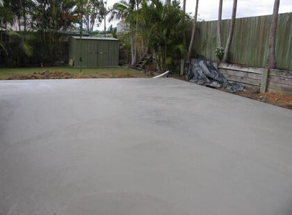 Concrete Shed Slabs - Plain Concrete Slabs, Decorative Concrete Slabs - Concreters Brisbane