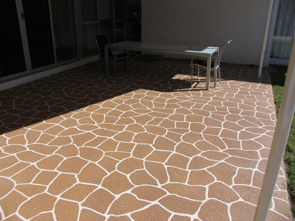 Stone Pattern Concrete Tile - River Stone Decorative Concrete Design