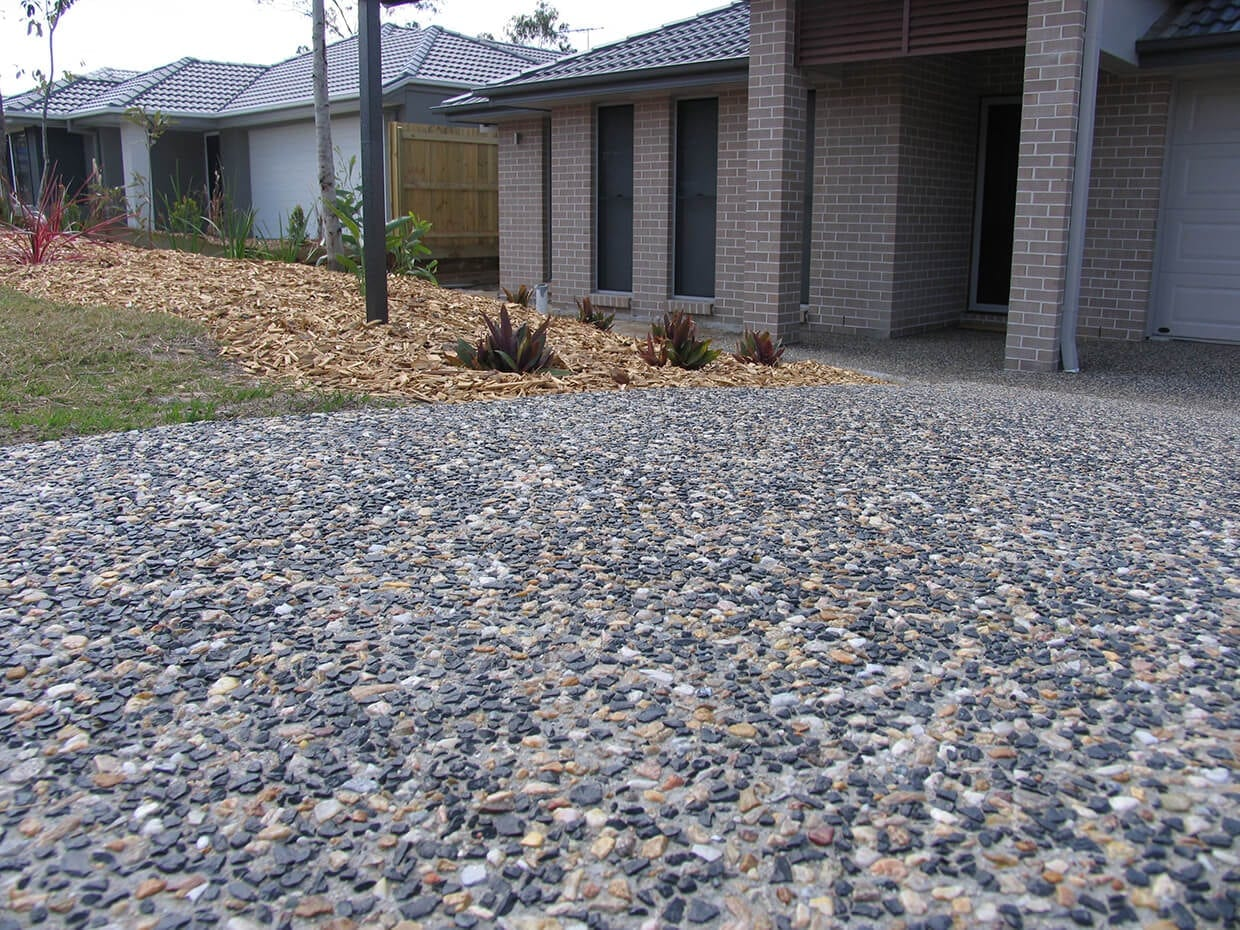 Exposed Aggregate Concrete Driveways - Aggregate Stone Driveways, Decorative Concrete Driveways